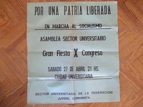 6369- Afiche 10º Congreso Federacion Juvenil Comunista