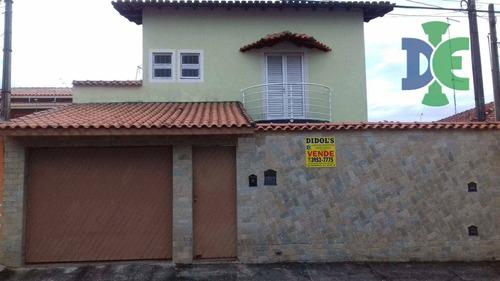 Sobrado Com 3 Dormitórios À Venda, 200 M² Por R$ 550.000,00 - Cidade Jardim - Jacareí/sp - So0036