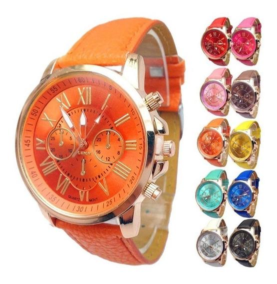 Lote 20 Reloj Relojes Geneva Oferta Alta Calidad