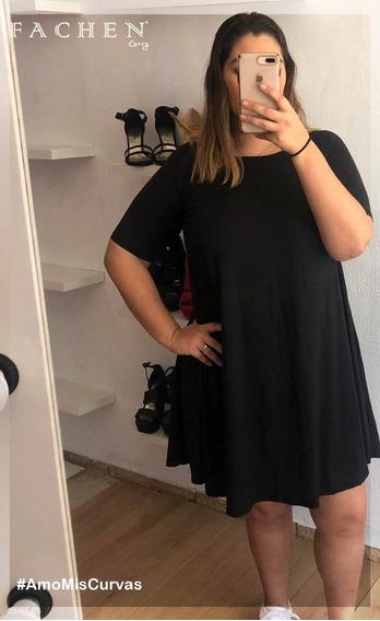 Vestido Linea A Negro Extras