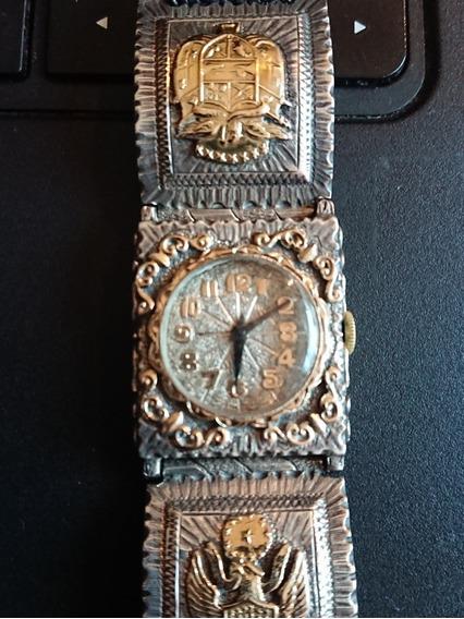 Reloj Plata Y Oro Antiguo De Cuerda