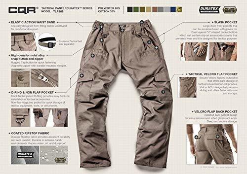 Pantalones Tacticos De Hombre Cqr Pantalones Cargo De Ripst Mercado Libre