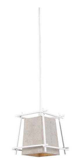 Pendente Luminaria Concreto Aramado 16x20 Cm Lustre Branco