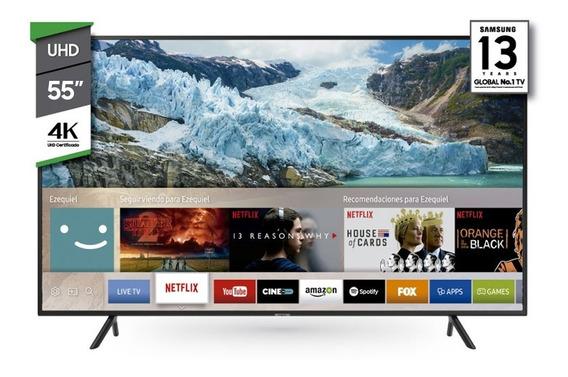 Samsung Smart Tv 55 Ultra Hd 4k Ru7100 Netflix Stienda