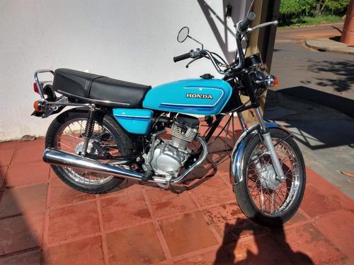 Moto Honda Cg 125 Bolinha 1982 Azul Troco Por Moto Maior Cc