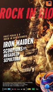 Um Ingresso Inteiro Para O Rock In Rio, 04/10/2019.