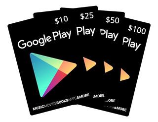 Tarjeta Google Play $5 Dolares Usa Tienda 22 Soles