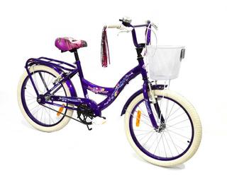 Bicicleta Equipada Fire Bird Rodado 20 Nena