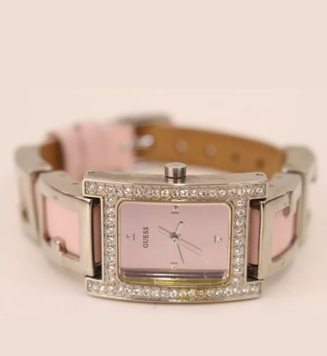 Reloj Dama Guess G75898l Cuero Rosa