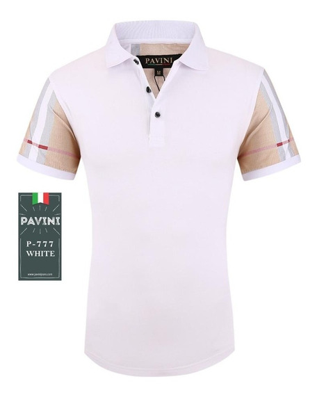 Playera Para Hombre Marca Pavini Original P777 Blanco( 1 )
