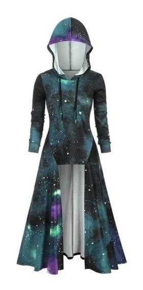 Capa Vestido Asimétrico Galaxia