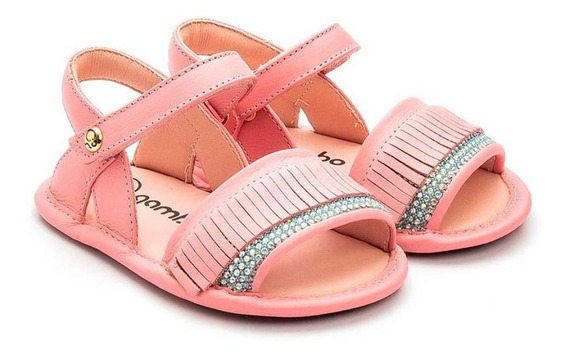 Sandália Bebê Franjas Pink - Gambo