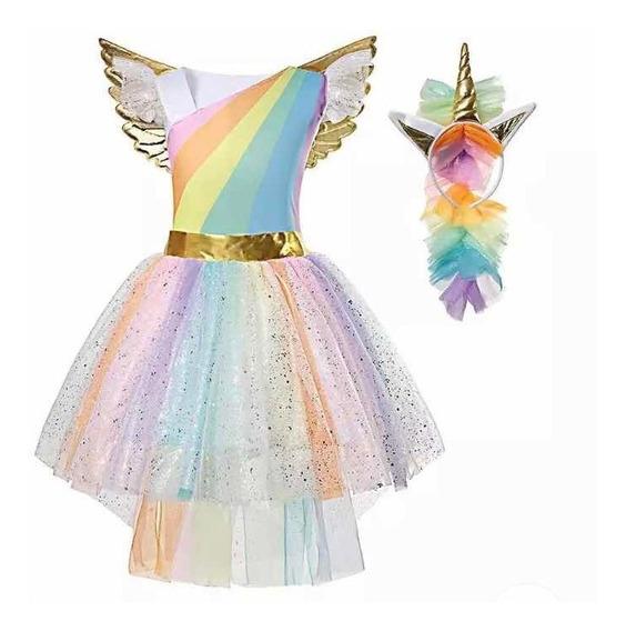 Disfraz Vestido Unicornio Niña