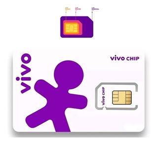 Kit 2 Chip Vivo 4g Escolha Qualquer Ddd Do Brasil - 11 Ao 99