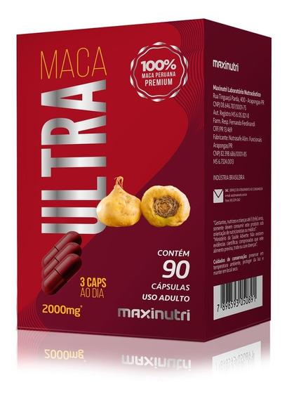 Maca Peruana Maca Ultra 2000mg 90 Caps - Maxinutri Original
