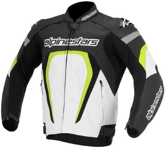Chamarra Para Moto Alpinestars Racing Motegi Amarillo Piel