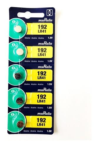 Pila Murata 192 Lr41 1.5v Alcalina Pack X 5