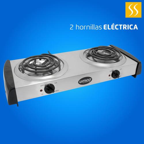 Cocineta Umco Eléctrica 2q Acero Inox Precio Incluido Iva
