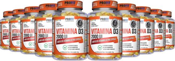 Kit 10x Vitamina D - Vit D3 2000ui 60 Cáps (600 Cáps) Profit