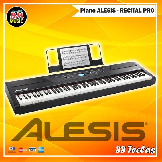 Piano Digital Alesis Recital Pro 88 Teclas Action Hammer
