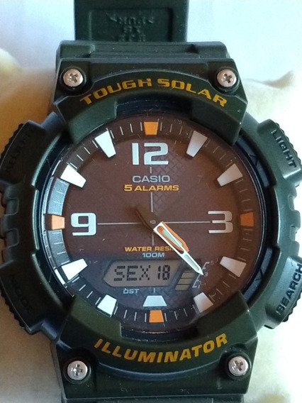 Relógio Casio Tough Solar 100m Original