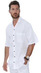 Camisa Manga Corta Caballero Algodón Modelo (islander)