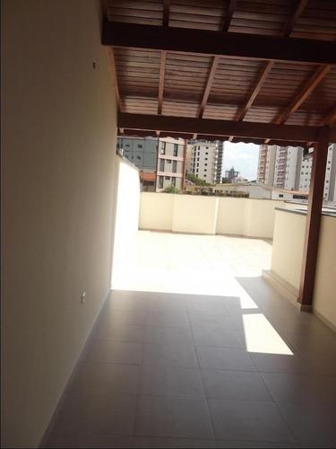 Cobertura Com 2 Dormitórios À Venda, 79 M² Por R$ 389.000,00 - Santa Maria - Santo André/sp - Co0225