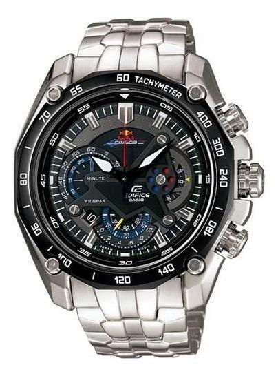 Relógio Hx026b Casio Redbull Ef550 Preto Puls. Aço Inox Lu