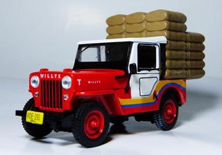 Jeep Willys Cj 3b Cafetero Nuevo Escala 1:43 Marca Ixo