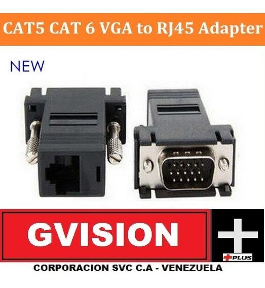 Extension Vga Por Cable Rj45 Red Adaptador 38 Metros Unidad