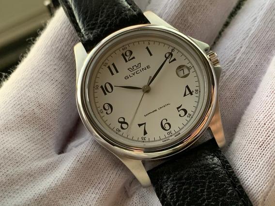 Relógio Glycine Classic White 3519-14-lb9 Swiss Made