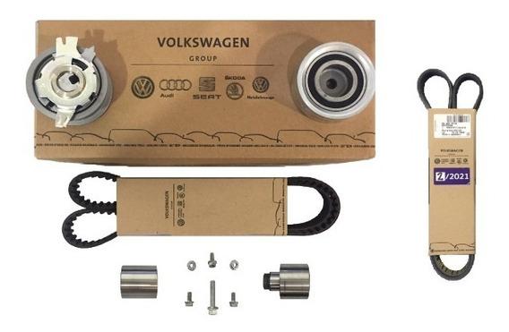Juego Original : Kit De Distribucion + Correa Poli-v ( Del Alternador ), Para Volkswagen Amarok Repuestos Originales