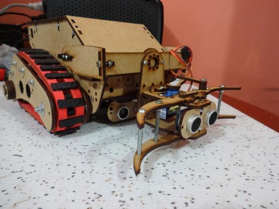 Kit Robô Orion Esteiras Largas + Garra Arduino Padrão Obr