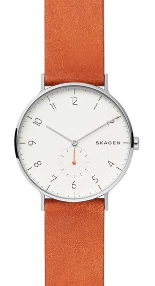 Relógio Masculino Skagen Coloridos Prata - Original