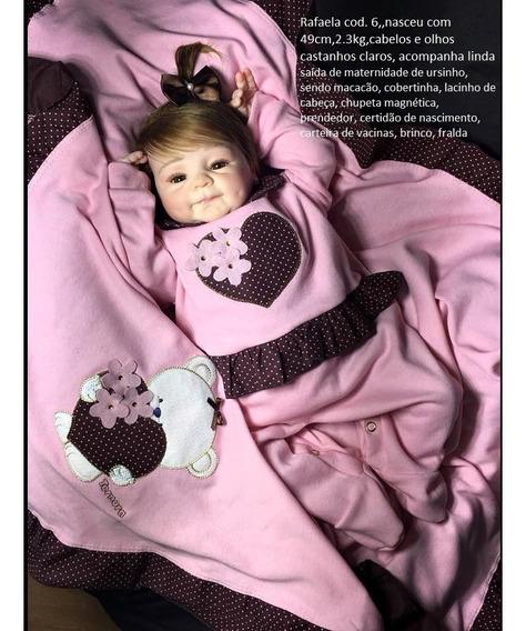 Boneca Artesanato Reborn Rafaela 6 (corpo Tecido)