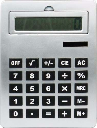Calculadora De Mesa Grande Gigante Infantil Idosos Prata