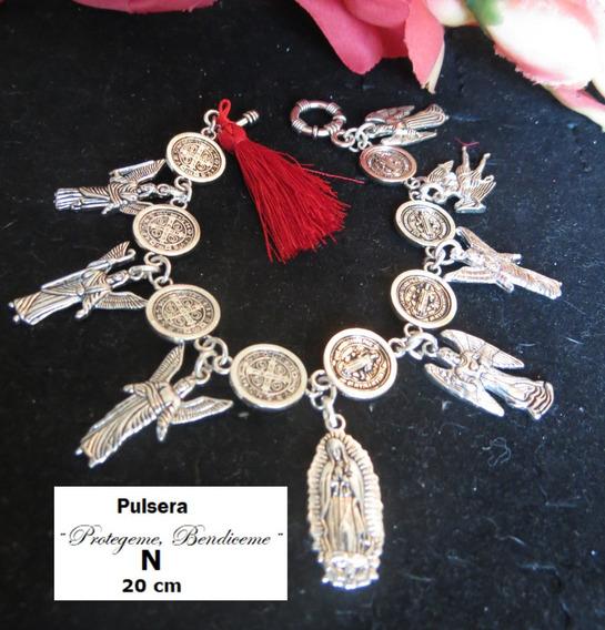 Pulsera Poderosa De San Benito, Arcangeles Y La Virgen