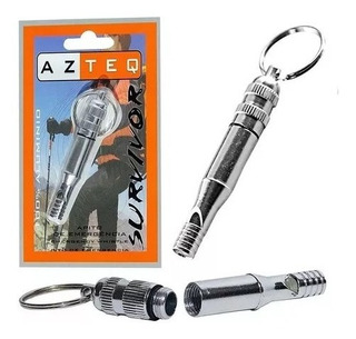Apito Survivor Alumínio Emergência Sobrevivência - Azteq