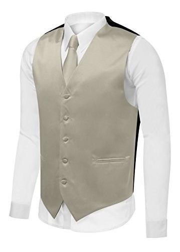 Conjunto De Chaleco Para Hombre Pañuelo Elegante De Vestir