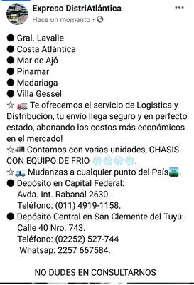Logística, Distribución, Mudanzas.