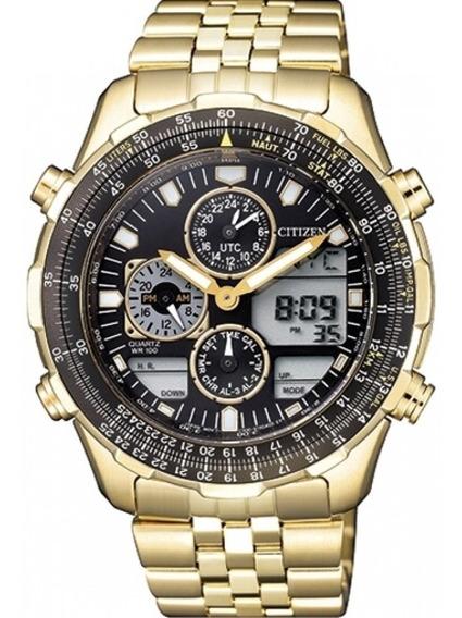 Relógio Citizen Jn0122-80e / Tz10173u Novo Navihawk Dourado