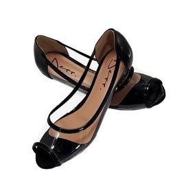 3e0371b0cf Sapatilha Transparente Com Bico Preto - Sapatos no Mercado Livre Brasil
