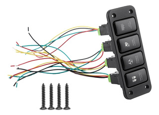 4 Interruptor Panel Conducir Luz Blu-ray Interruptor Empujar