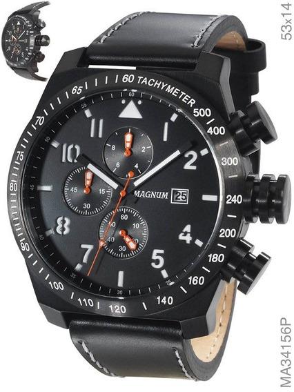 Relógio Magnum Masculino Preto Ma34156p