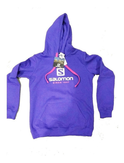 Buzo Salomon Mujer Logo Hoodie Weekendpesca