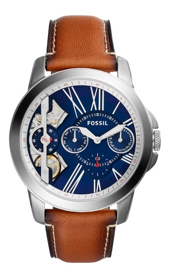 Reloj Caballero Fossil Me1161 Color Café De Piel