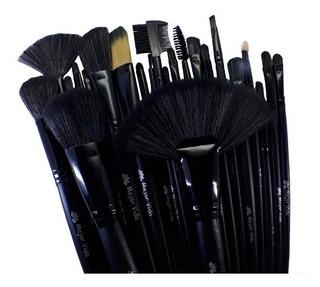 Brochas Maquillaje Profesionales Set De 32 + Estuche + Envío