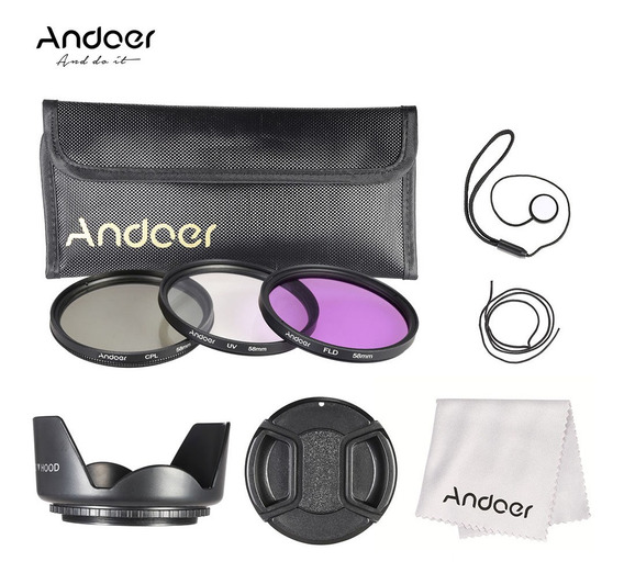 3*andoer Kit De Filtro De 58mm (fld + Uv + Cpl) + Nylon Carr