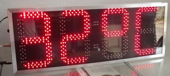 Relógio De Led Lf-03r Dupla Face (mestre/escravo)
