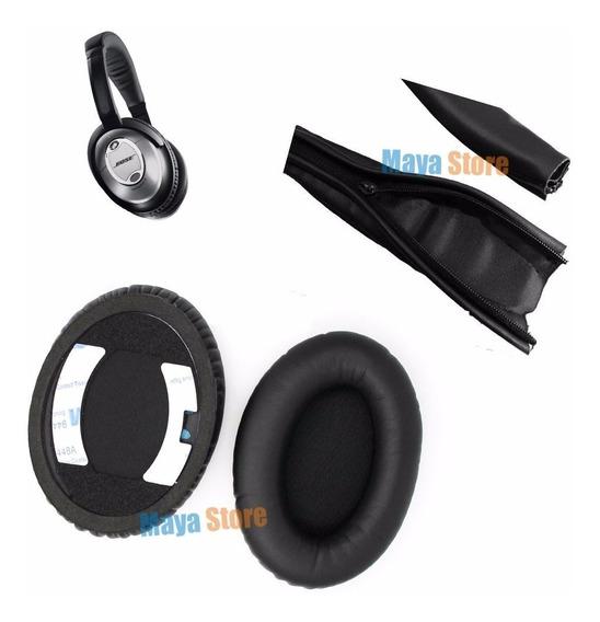 Kit Almofadas Reposição Para Bose Quietcomfort Qc15 Qc2
